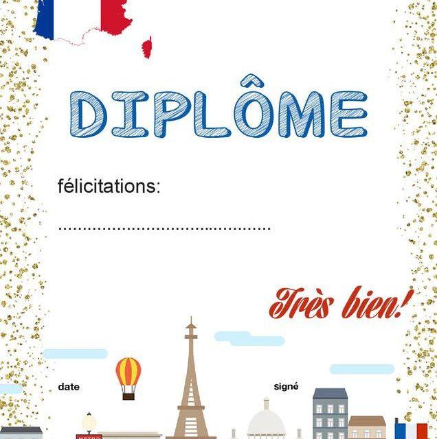 Dyplom za osiągnięcia z języka francuskiego