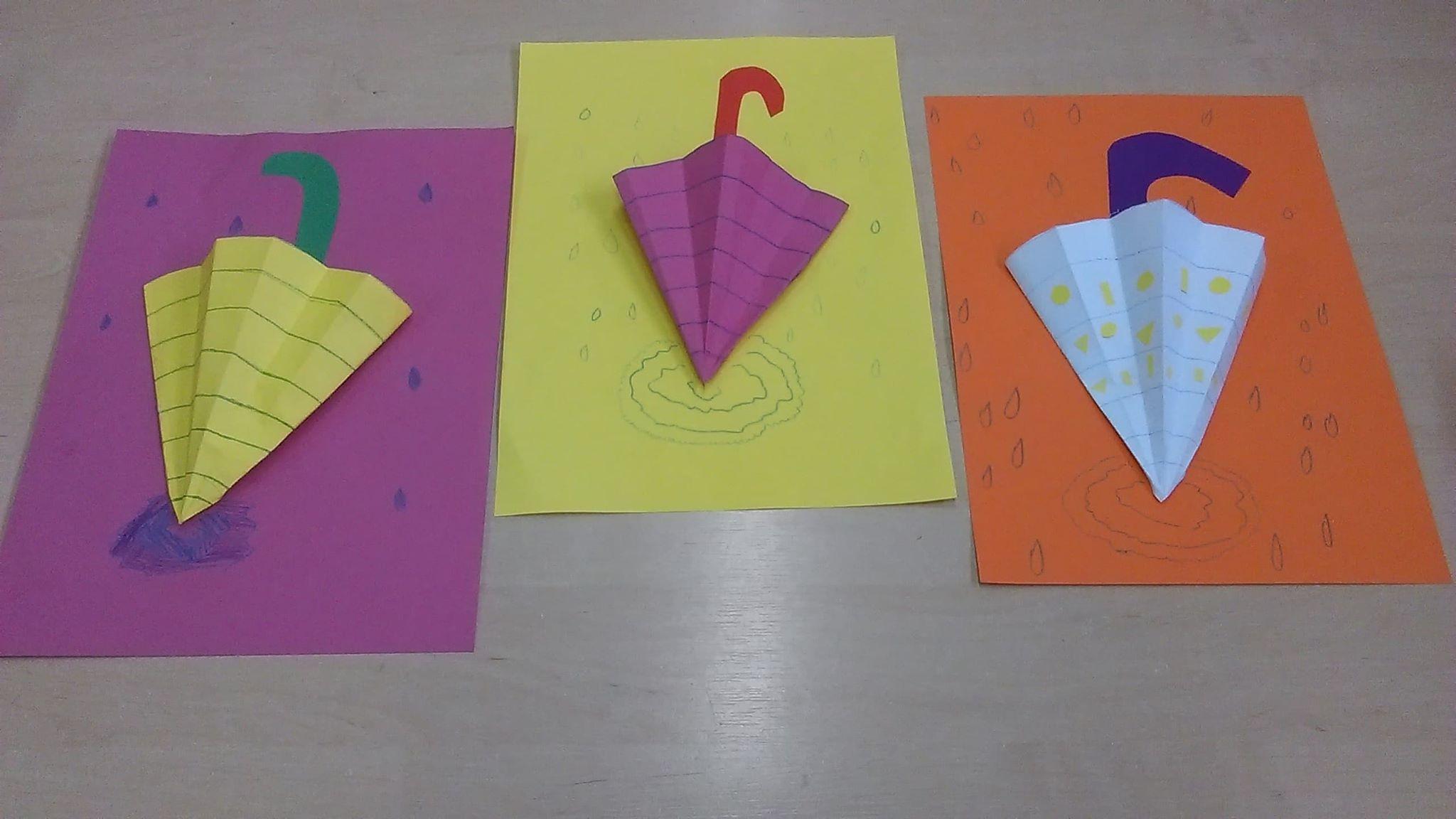 Parasolki Izabela Kowalska Jesień Kreatywnie z dzieckiem Prace plastyczne