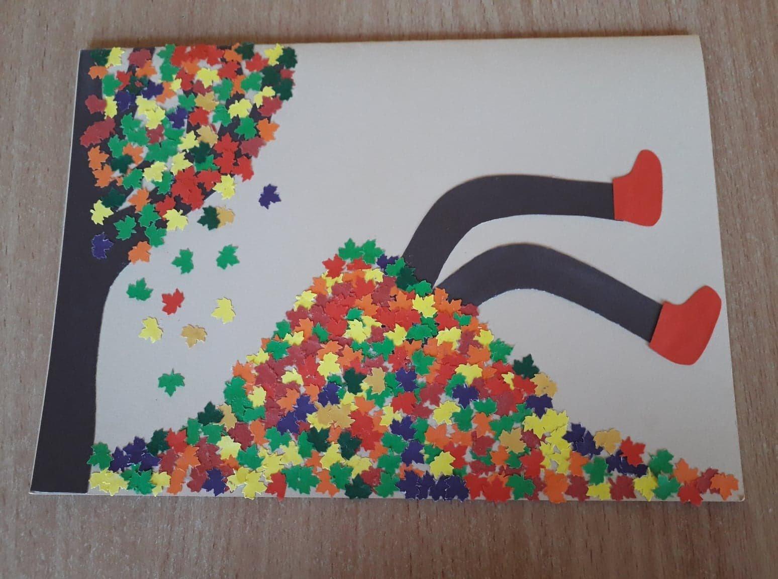 Jesienna kartka Alicja Mazur Jesień Jesień (Prace plastyczne) Prace plastyczne