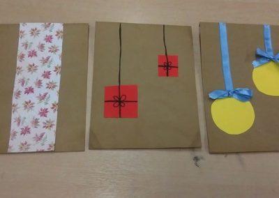Torebki na prezenty Boże Narodzenie Izabela Kowalska Kreatywnie z dzieckiem