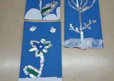 Mroźne kwiaty Izabela Kowalska Prace plastyczne
