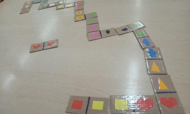 Domino kształty i domino liczby i cyfry