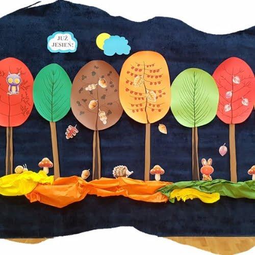 Jesienne drzewa w woreczkach Aneta Grądzka-Rudziak Jesień Prace plastyczne Prace plastyczne (Jesień)