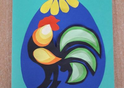 Kartki na konkurs wielkanocny Alicja Mazur Prace plastyczne Prace plastyczne (Wielkanoc)