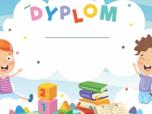 Dyplomy na zakończenie roku przedszkolnego i szkolnego (8 szablonów)