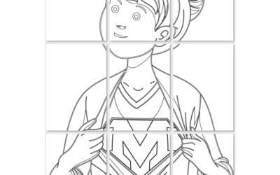 Kolorowanki XXL – Super Mama (7 szablonów)