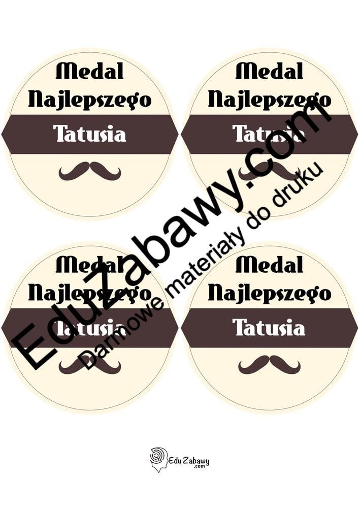 Medal najlepszego Taty (4 szablony) Dzień Taty Odznaki i medale (Dzień Taty)