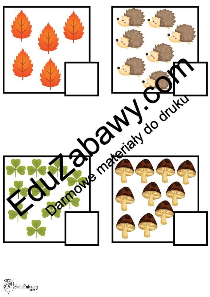 Jesień: Policz obrazki (40 kart pracy) Jesień Karty pracy Karty pracy (Jesień) Policz obrazki