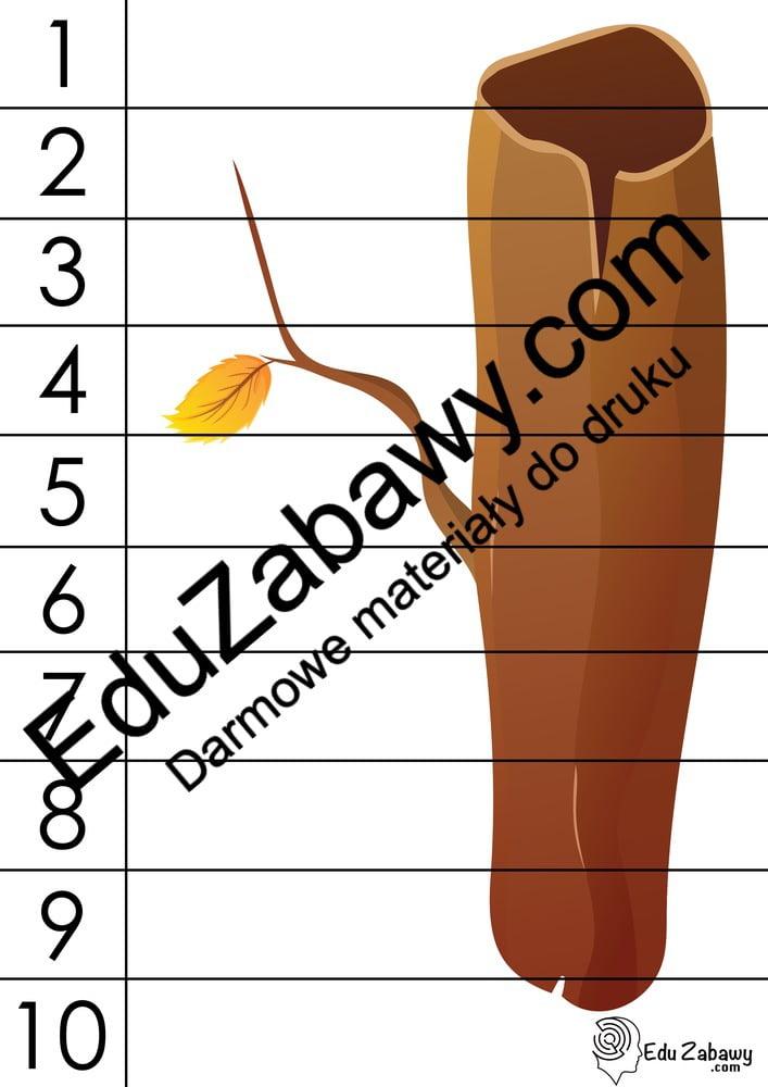 Jesień: Puzzle 10 elementów (8 kart pracy) Jesień Karty pracy Karty pracy (Jesień) Puzzle