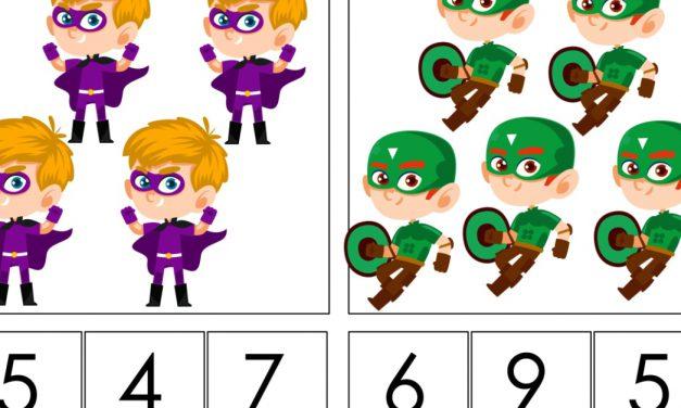 Dzień Chłopaka: Matematyka klamerkowa (40 kart pracy)