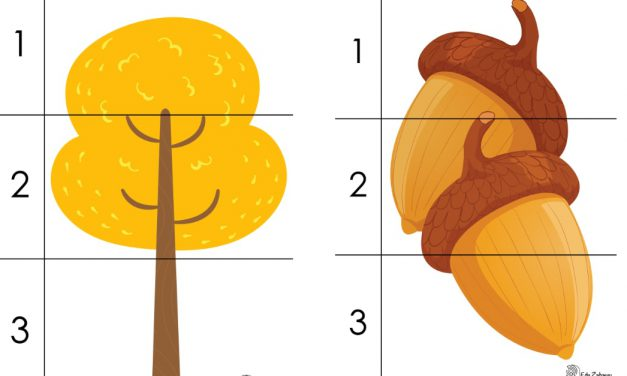 Dzień Drzewa: Puzzle 3 elementy (10 kart pracy)