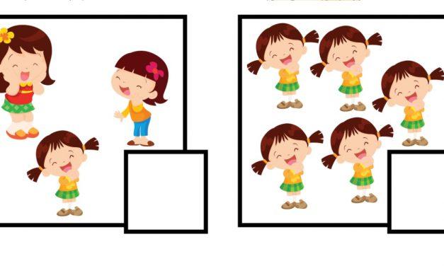 Dzień Dziewczynek: Policz obrazki (10 kart pracy)
