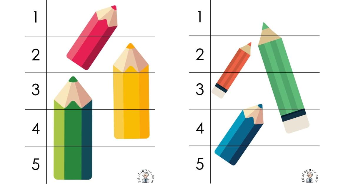 Dzień Kredki: Puzzle 5 elementów (10 kart pracy)