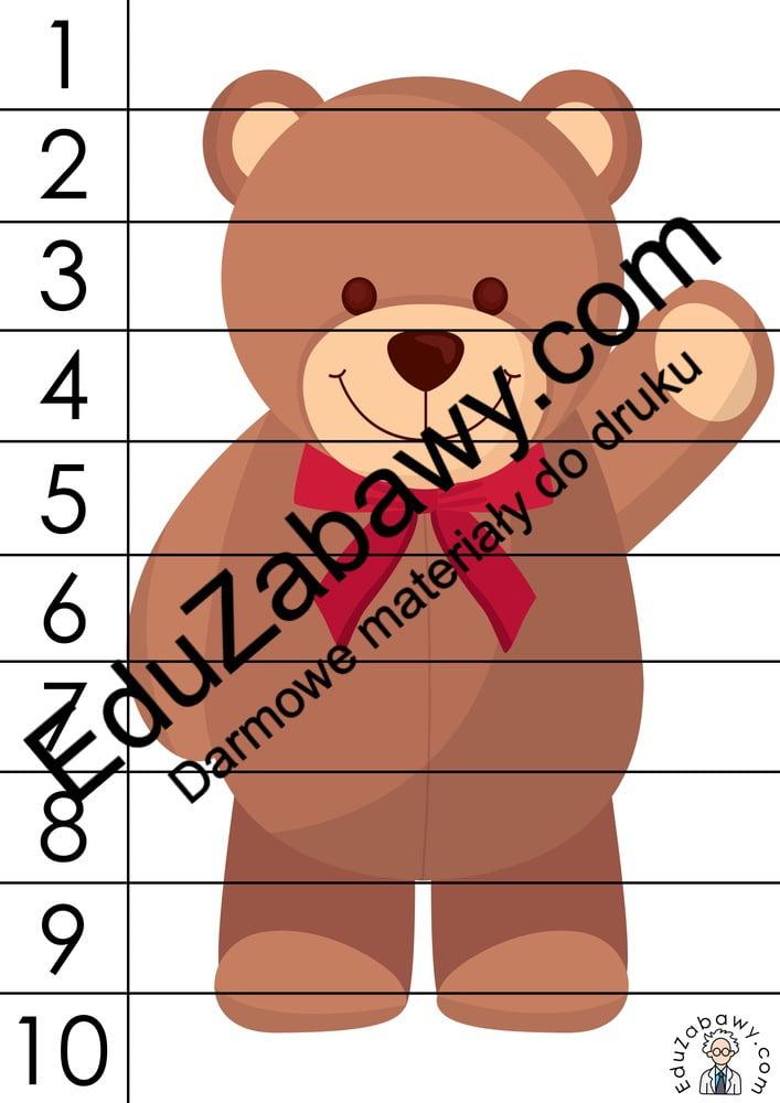 Dzień Misia: Puzzle 10 elementów (10 kart pracy) Dzień Pluszowego Misia Karty pracy Karty pracy (Dzień Misia) Puzzle