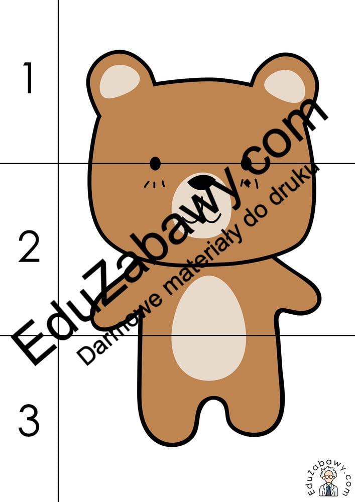 Dzień Misia: Puzzle 3 elementy (10 kart pracy) Dzień Pluszowego Misia Karty pracy Karty pracy (Dzień Misia) Puzzle