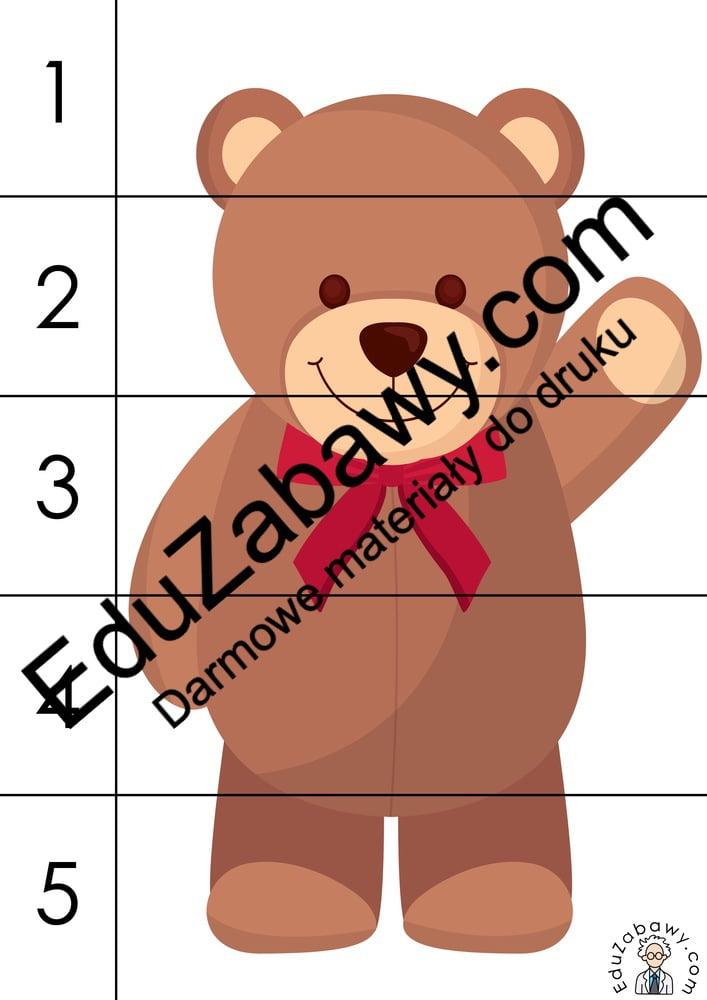 Dzień Misia: Puzzle 5 elementów (10 kart pracy) Dzień Pluszowego Misia Karty pracy Karty pracy (Dzień Misia) Puzzle