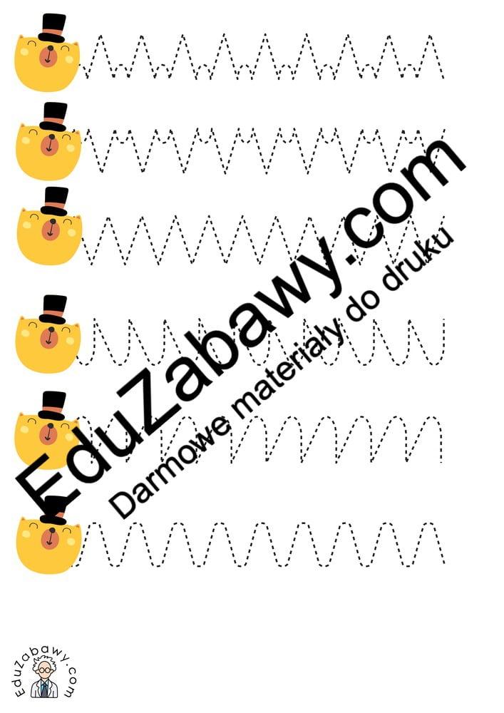 Dzień Misia: Szlaczki (10 kart pracy) Dzień Pluszowego Misia Karty pracy Karty pracy (Dzień Misia) Szlaczki