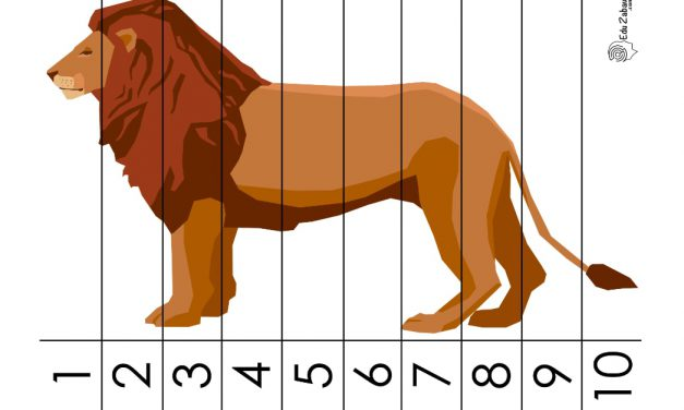 Dzień Zwierząt: Puzzle 10 elementów (10 kart pracy)