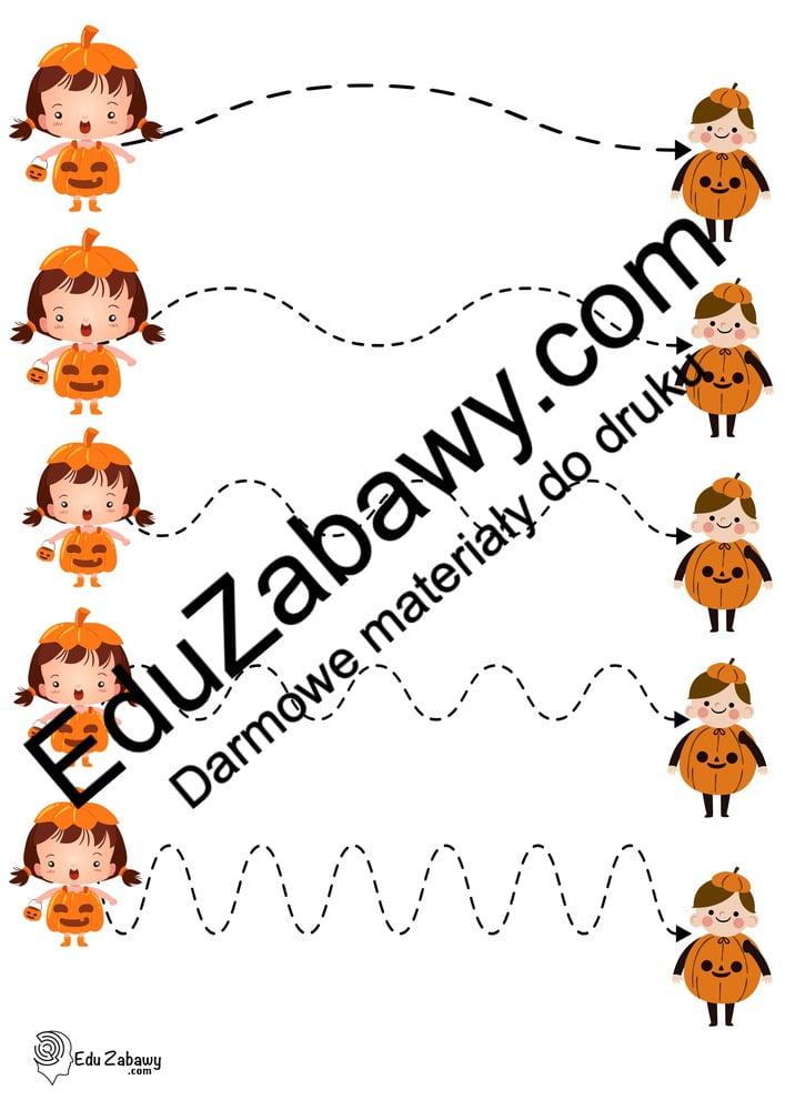 Halloween: Szlaczki (10 kart pracy) Karty pracy Karty pracy (Halloween / Święto dyni) Święto Dyni / Halloween Szlaczki