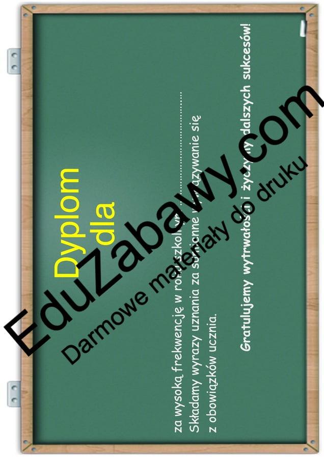 Dyplomy za frekwencję Dyplomy Dyplomy (Zakończenie roku) Okolicznościowe
