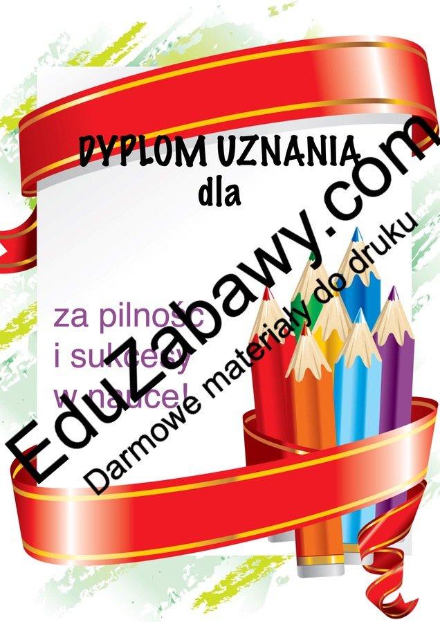 Dyplomy za pilność i sukcesy w nauce Dyplomy Dyplomy (Pożegnanie przedszkola) Dyplomy (Zakończenie roku) Okolicznościowe