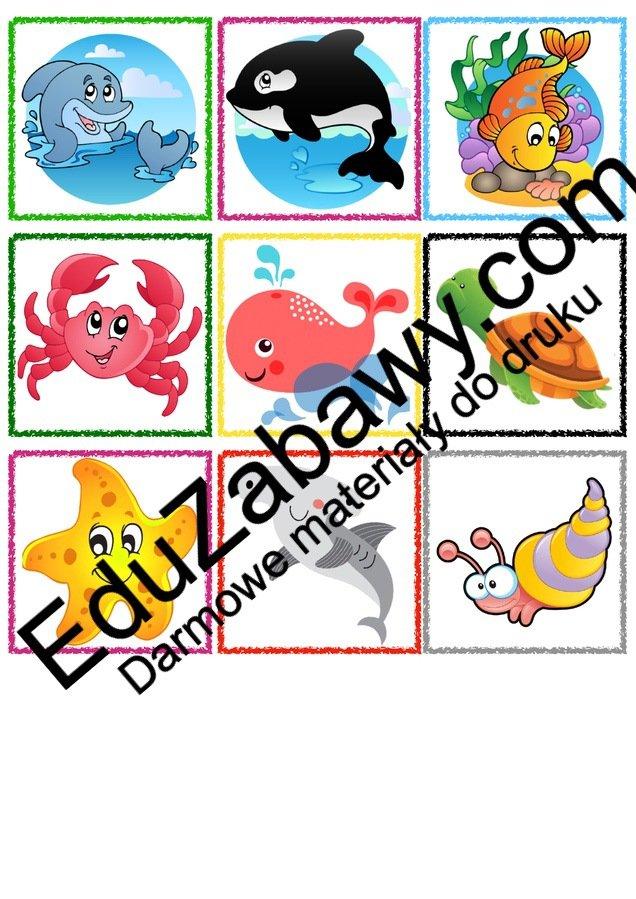 Znaczki przedszkolne – Podwodny świat Kalendarz świąt Powitanie przedszkola Wrzesień Znaczki na szafki / etykiety