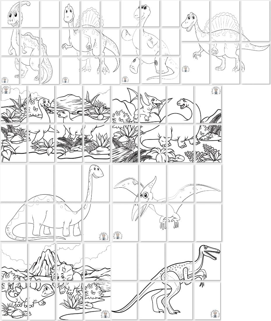 Kolorowanki XXL: Dinozaury Dzień Dinozaura Kolorowanki (Dzień Dinozaura) Kolorowanki XXL