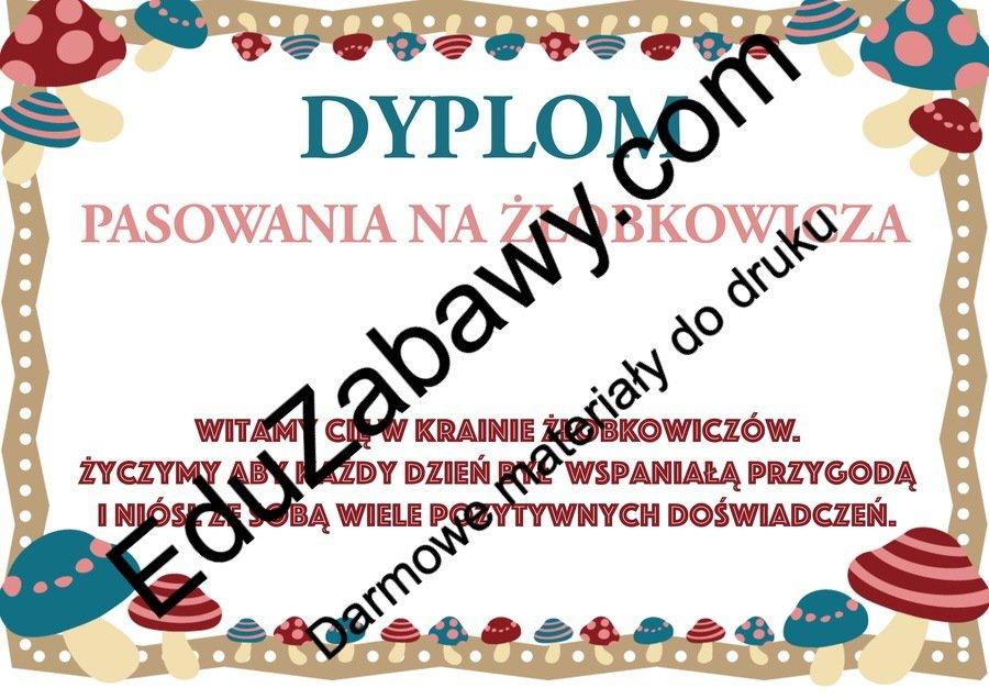 Dyplomy pasowania na żłobkowicza (poziome) Dyplomy Okolicznościowe