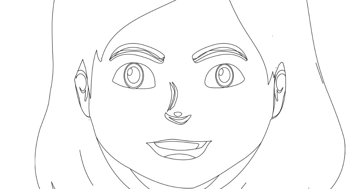 Kolorowanki: Emocje – dziewczynka (9 szablonów)
