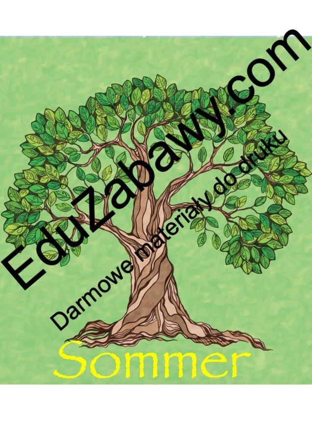 Pory roku – plakaty pionowe (wersja niemiecka) Jesień Pory roku - plakaty Tematyczne Wrzesień