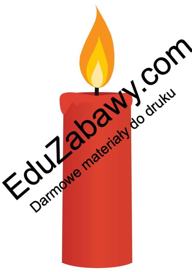 Dekoracje andrzejkowe: świeczki Andrzejki Dekoracje (Andrzejki) Kalendarz świąt Listopad