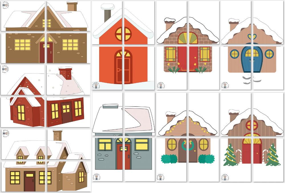 Dekoracje XXL: Domy w śniegu Dekoracje Dekoracje (Zima) Zima