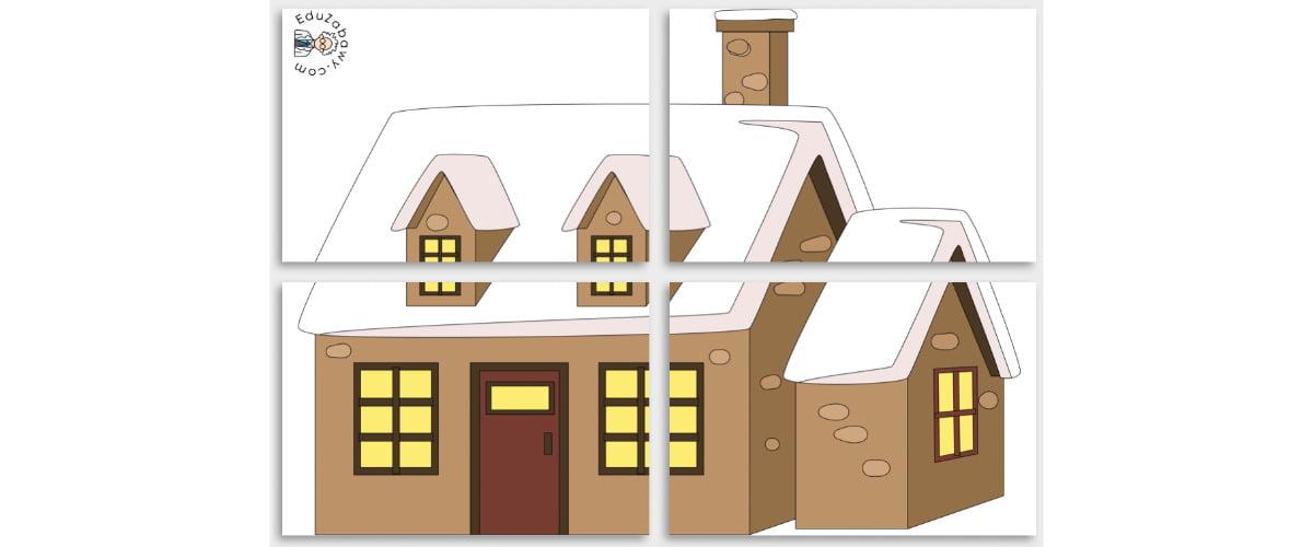 Dekoracje XXL: Domy w śniegu