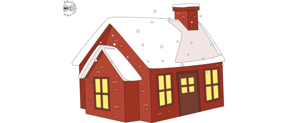 Dekoracje: Domy w śniegu