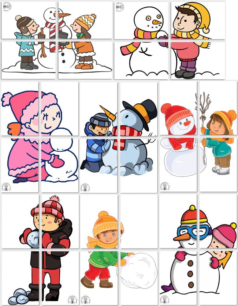 Dekoracje XXL: Dzieci lepiące bałwanka Boże Narodzenie Dekoracje Dekoracje (Boże Narodzenie) Dekoracje (Zima) Zima