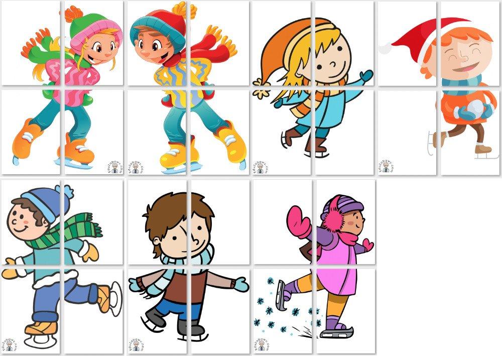 Dekoracje XXL: Dzieci na łyżwach Boże Narodzenie Dekoracje Dekoracje (Boże Narodzenie) Dekoracje (Zima) Zima