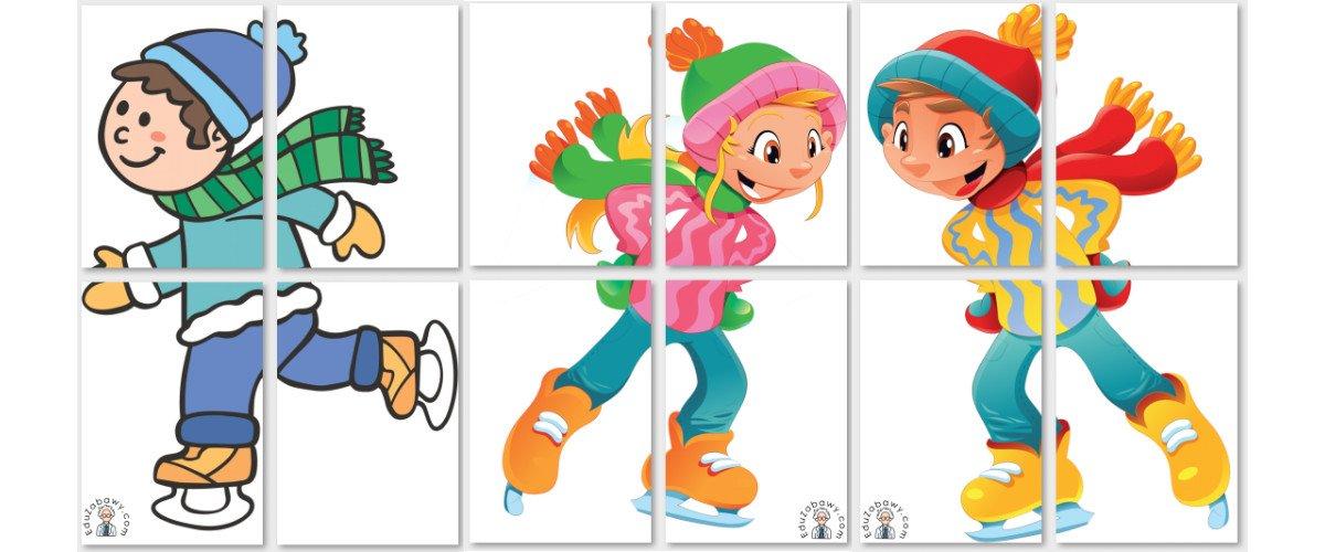 Dekoracje XXL: Dzieci na łyżwach