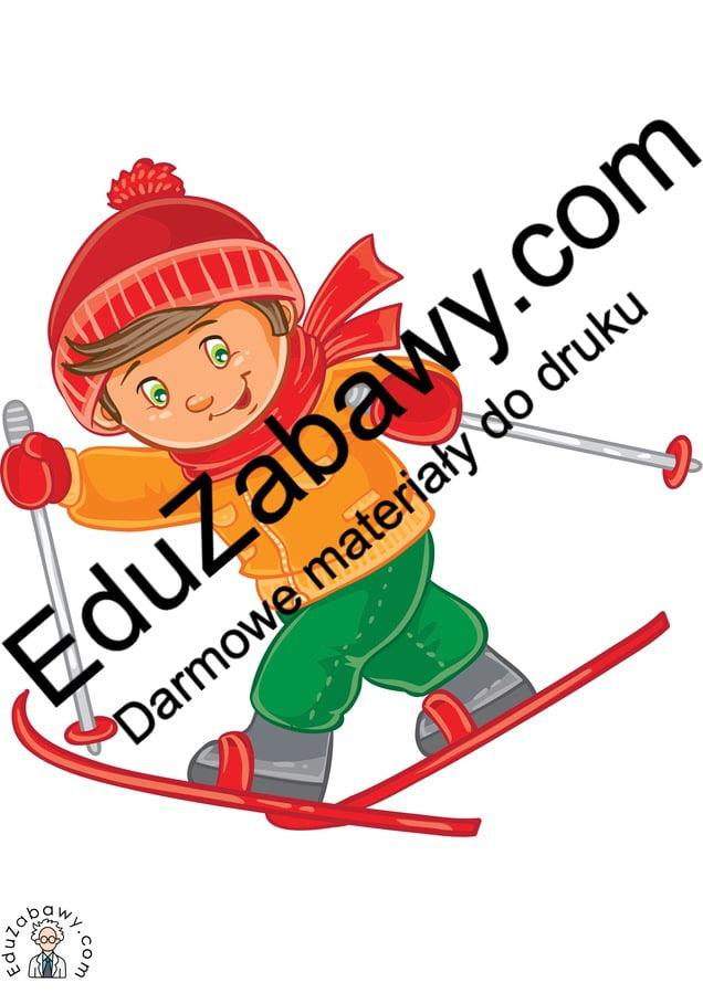 Dekoracje: Dzieci na nartach Boże Narodzenie Dekoracje Dekoracje (Boże Narodzenie) Dekoracje (Zima) Zima