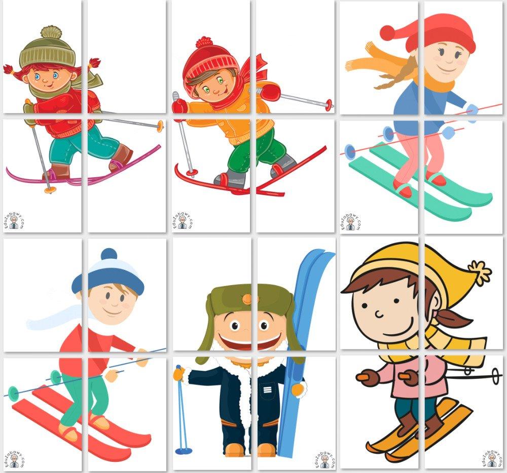 Dekoracje XXL: Dzieci na nartach Boże Narodzenie Dekoracje Dekoracje (Boże Narodzenie) Dekoracje (Zima) Zima