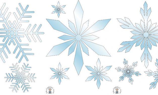 Dekoracje: Płatki śniegu