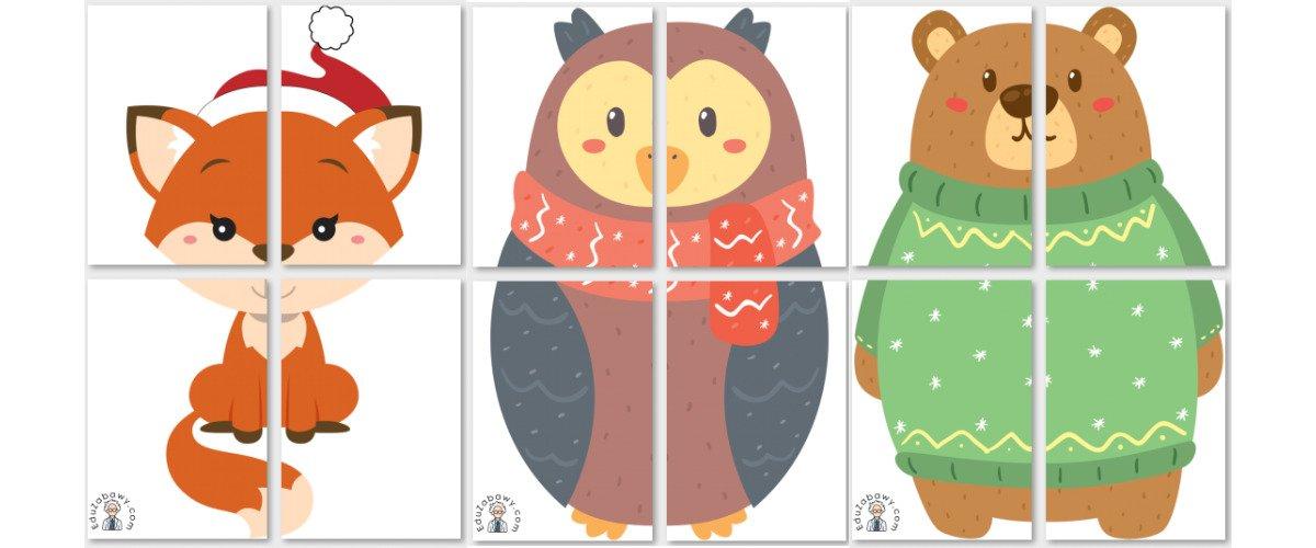 Dekoracje XXL: Zimowe zwierzęta