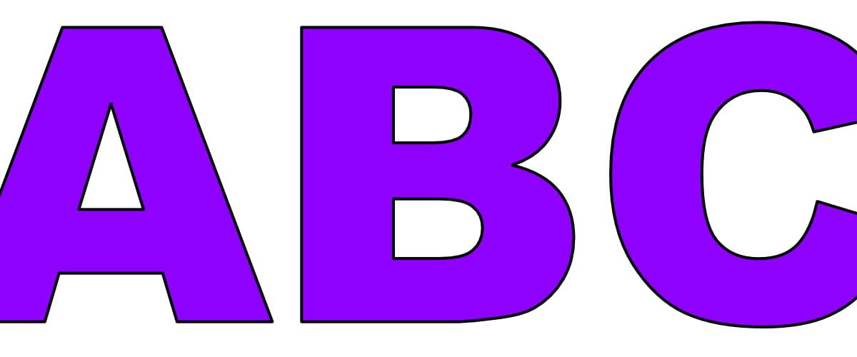 Fioletowe litery duże