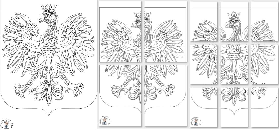 Kolorowanki: Godło (A4 i XXL) Dekoracje Dekoracje (Święto Niepodległości) Kolorowanki (Święto Niepodległości) Święto Niepodległości