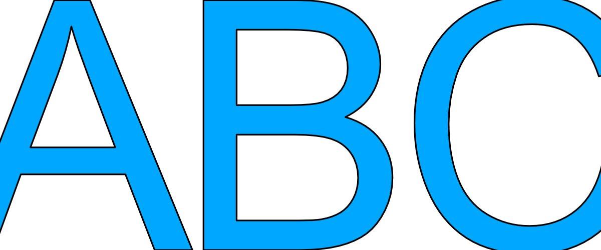 Niebieskie litery duże