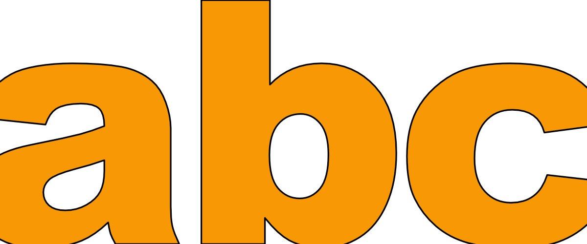 Pomarańczowe litery małe