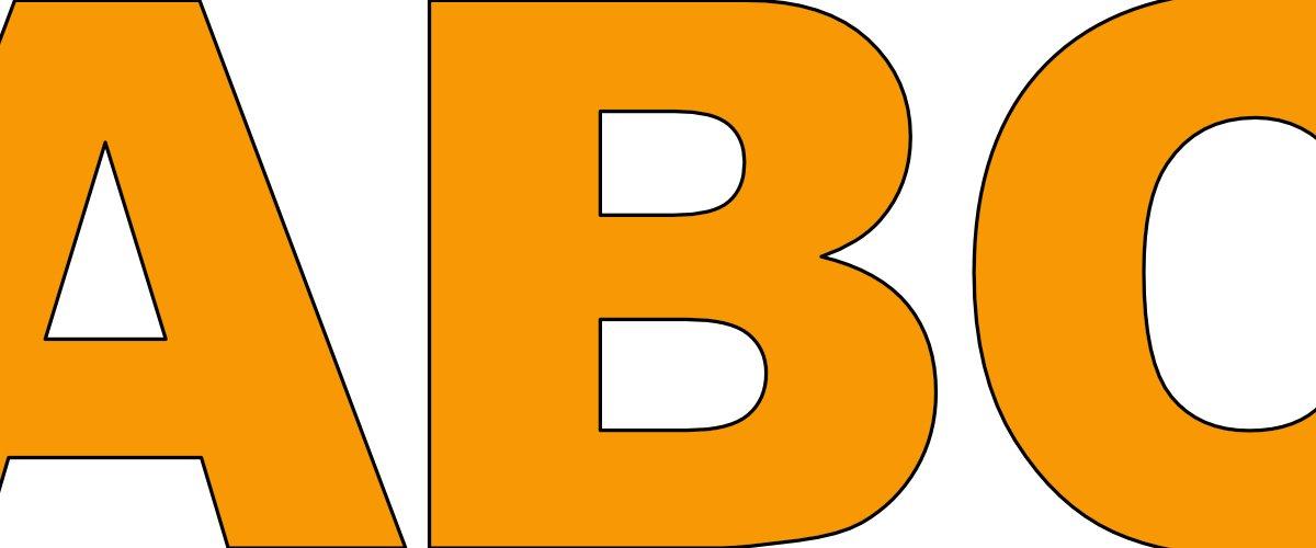 Pomarańczowe litery duże