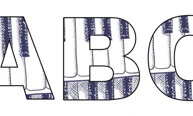 Pianino: litery duże