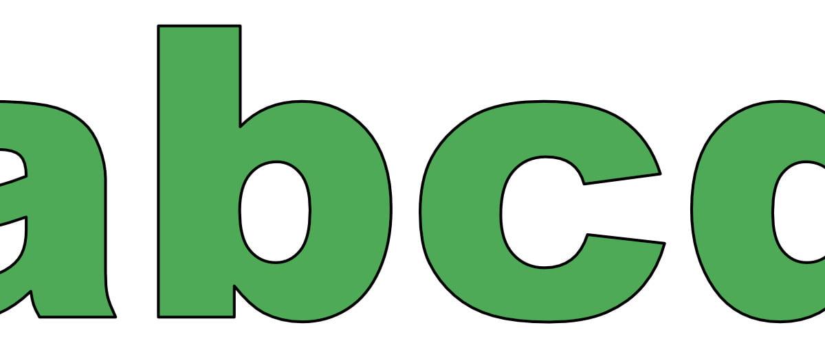 Zielone litery małe
