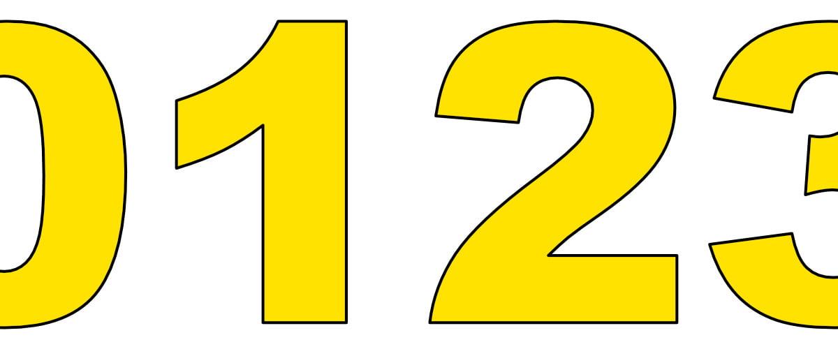 Żółte cyfry