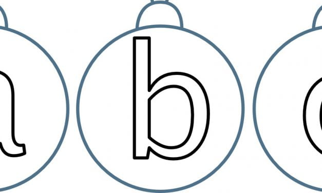 Bombka – małe litery do pokolorowania